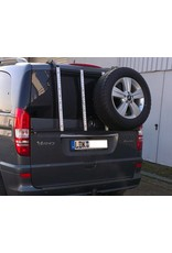 "Rear carrier ""modular"" for carrying spare wheel, canister, etc. Mercedes VITO/VIANO 639"