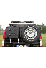 """système porte-bagage-hayon """"modulaire"""" pour le transport de roue de secours, canister, etc. Mercedes VITO/VIANO 639"""