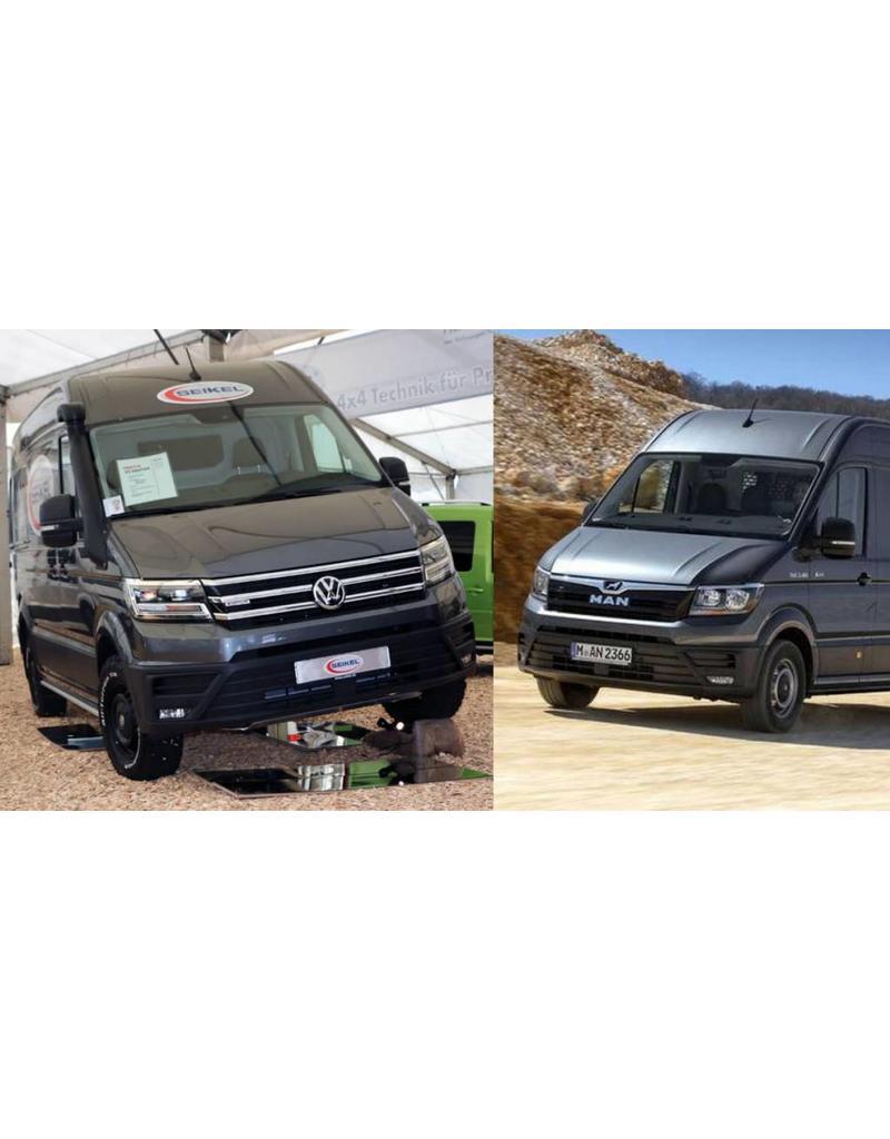 kit rehausse pour VW Crafter & TGE 4x4 pour un PTAC de 5T à 5.5 Tonnes