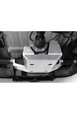 Einbau der Aluminium-Schutzplatte Allradkupplung/Differential