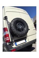 Sprinter 906 / VW Crafter I  spare wheel carrier on left door (180°door)