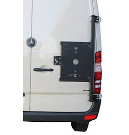 Mercedes Sprinter 906 universal carrier system on right back door (180°door)