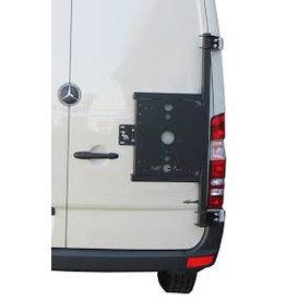 Mercedes Sprinter II / III universal carrier system on right back door (180°door)