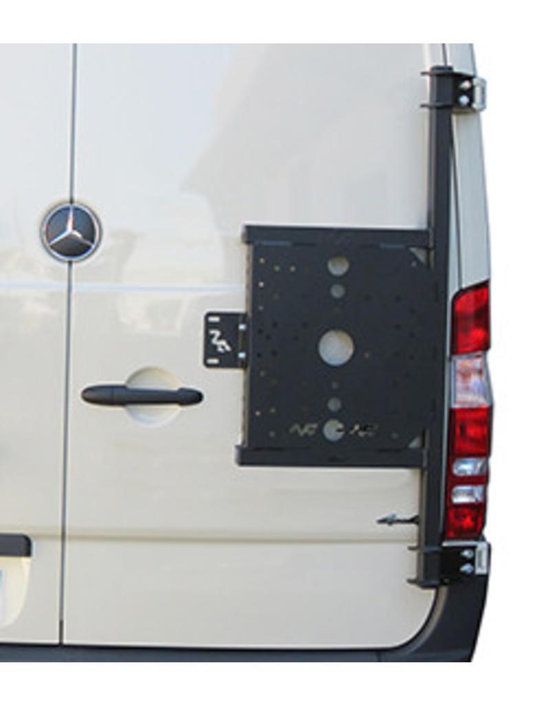 Mercedes Sprinter 906 / VW Crafter I -  universal carrier system on right back door (180°door)