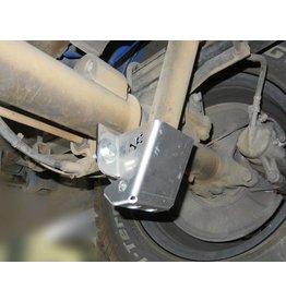 Verstärkung des hinteren unteren Stoßdämpferbefestigungspunktes mit Schutzplatte