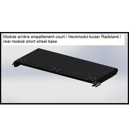 rear end module SHORT for the GTV-GMB VW T5/6 modular roof rack system