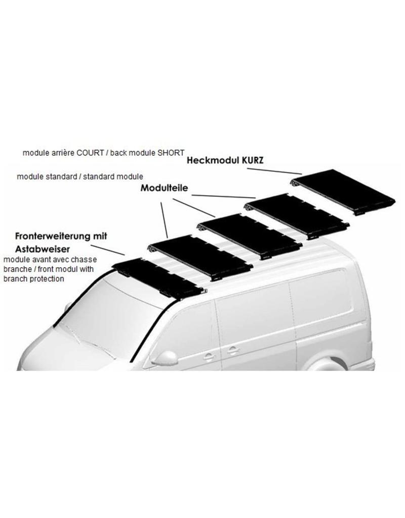"""Module habillage avant """"cale"""" pour le GTV-GMB VW T5/6 galerie de toit modulaire"""