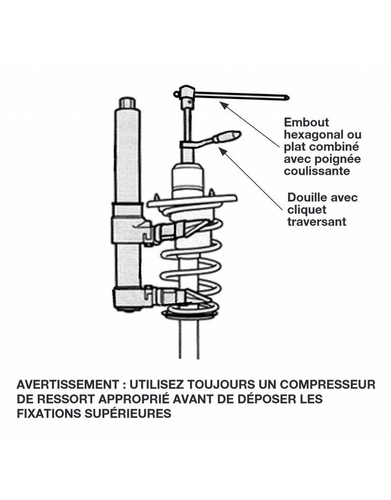 Kit d'outils pour amortisseur 15 pièces