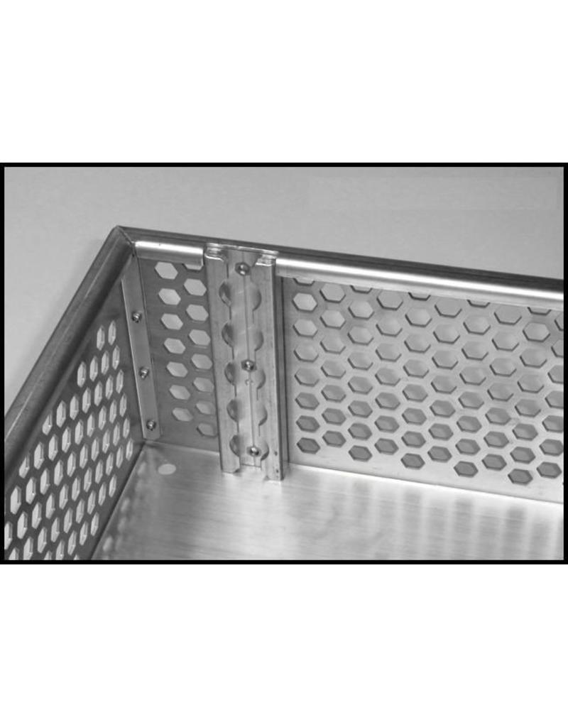 bagage basket  LxWxH: 641x 583 x 145 mm Aluminum natural