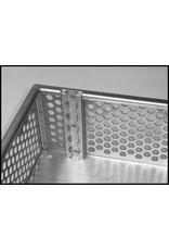 Gepäckkorb LxBxH:   641x 583 x 145 mm Aluminium eloxiert