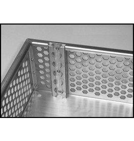 Corbeille de porte bagage  LOxLAxH: 641x 583 x 145 mm Aluminium anodisé