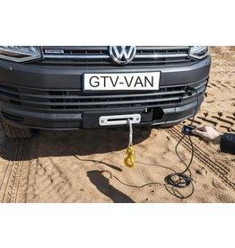 Seilwinde 3.600kg, 12V mit Kunststoffseil