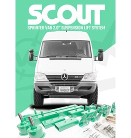 "VAN COMPASS™ SPRINTER T1N 2WD 2.0"" COMPLETE SUSPENSION LIFT SYSTEM ('94-'06)"