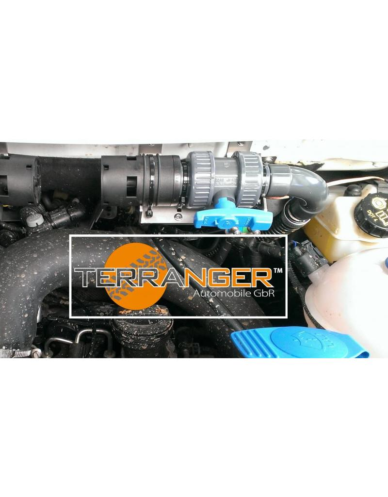 Conversion kit for additional water heater for more wading depth, suitable for VW T5