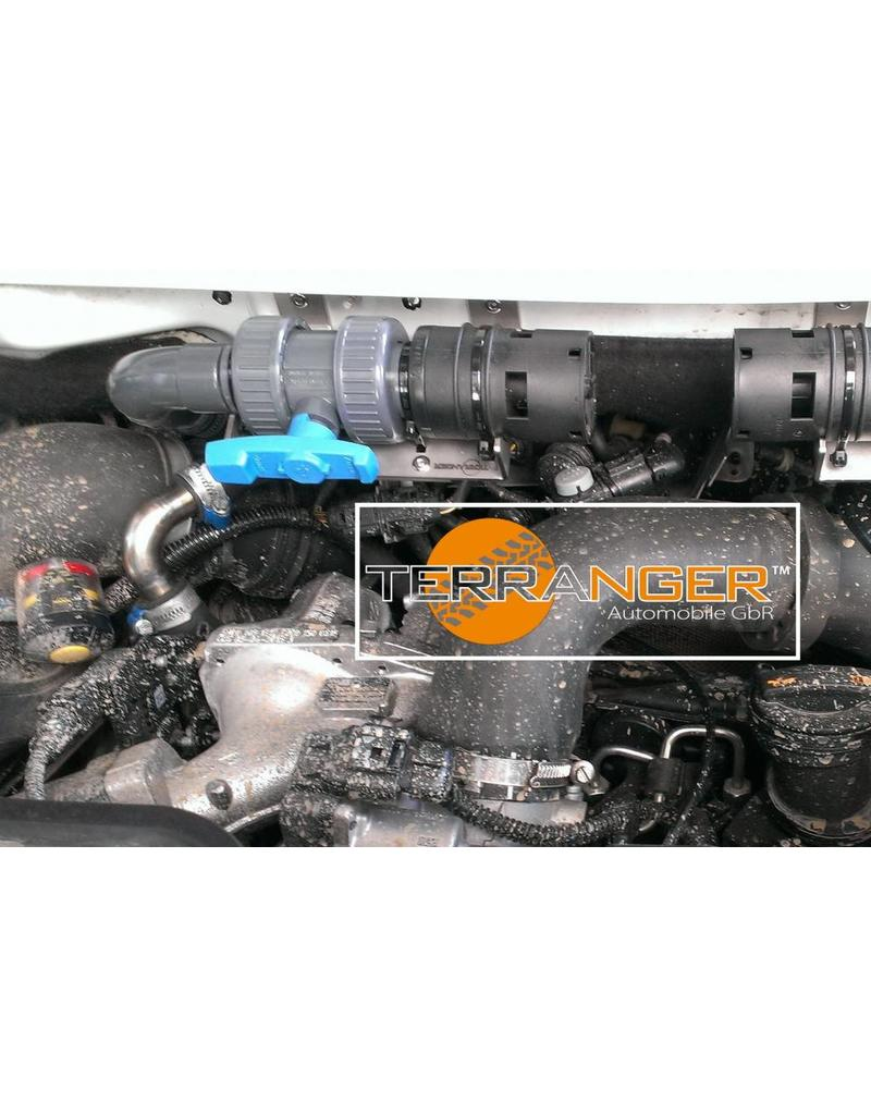 Installation of Conversion kit for air heater for more wading depth, suitable for VW T5 / T6