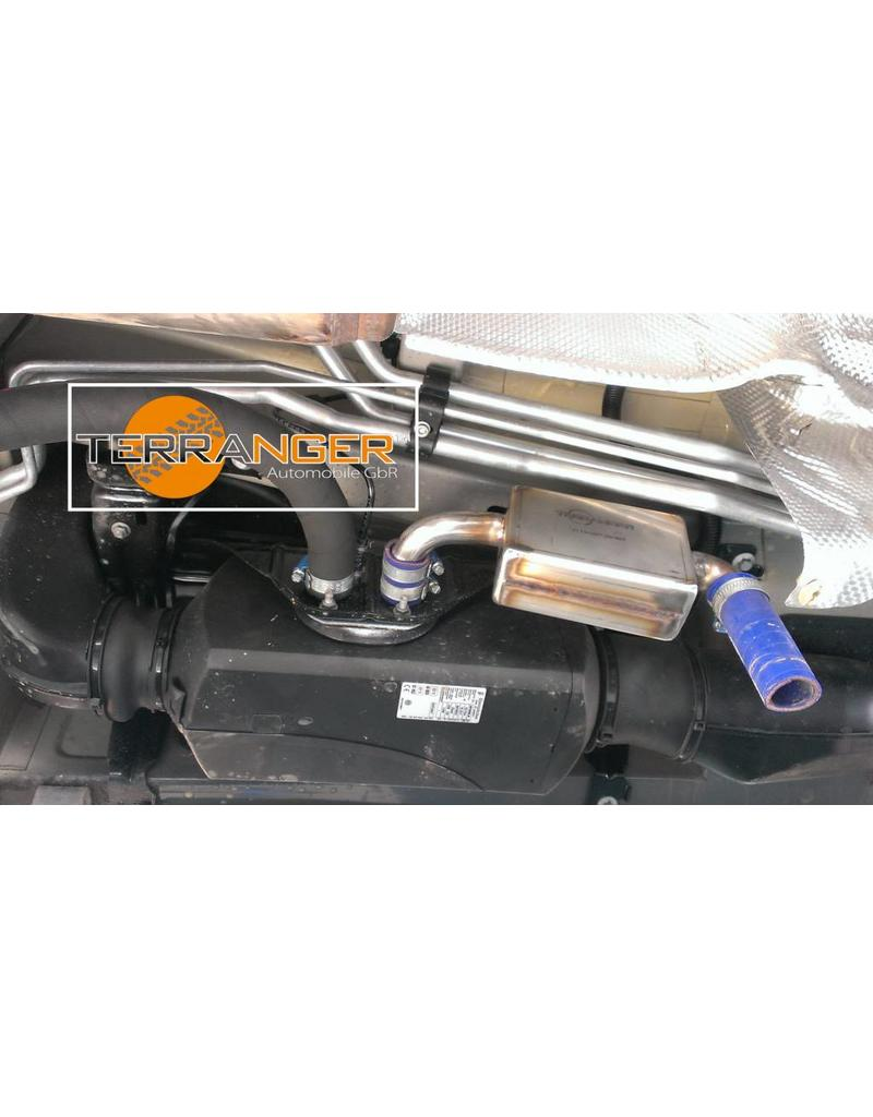 Installation of Waterproof silencer for air heater, suitable for VW T5 / T6