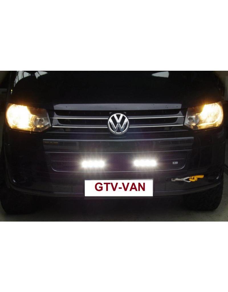 Kühlergrilleinsatz mit LAZER ST-4 EVO high performance LED-Fernscheinwerfern (Zusatzscheinwerfer), für VW T5.2 (ab MJ 2010)