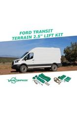 """VAN COMPASS™ FORD TRANSIT Kit de rehausse TERRAIN  2.5"""" (kit complet)"""