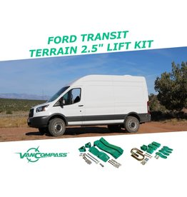 "VAN COMPASS™ FORD TRANSIT 2015+ 2WD 2.5"" SUSPENSION LIFT SYSTEM TERRAIN"
