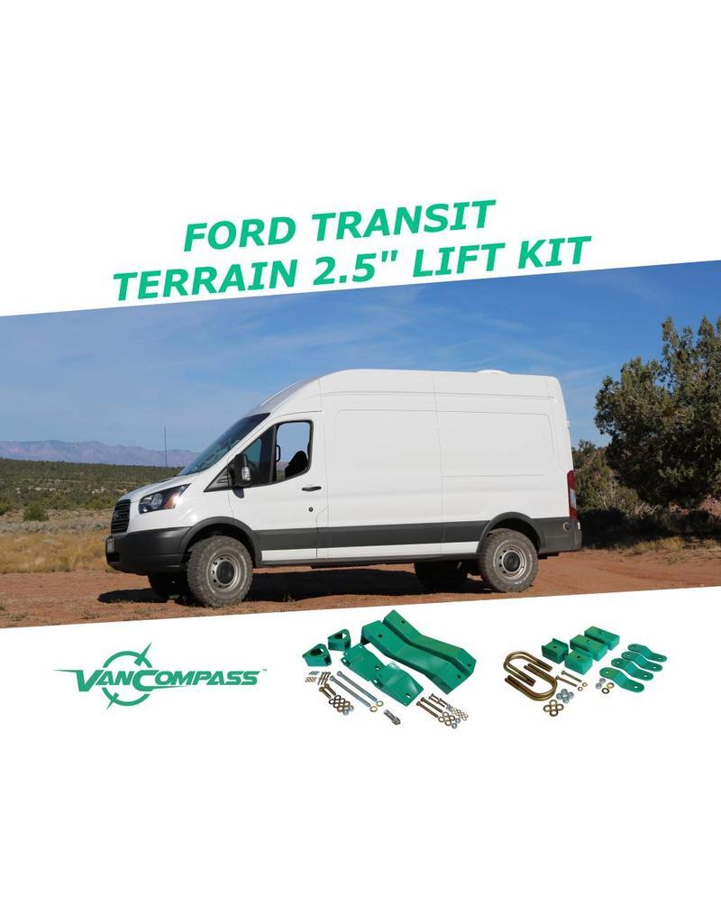 "FORD TRANSIT 2015+ 2WD Komplettset 2.5"" Fahrwerkshöherlegung"