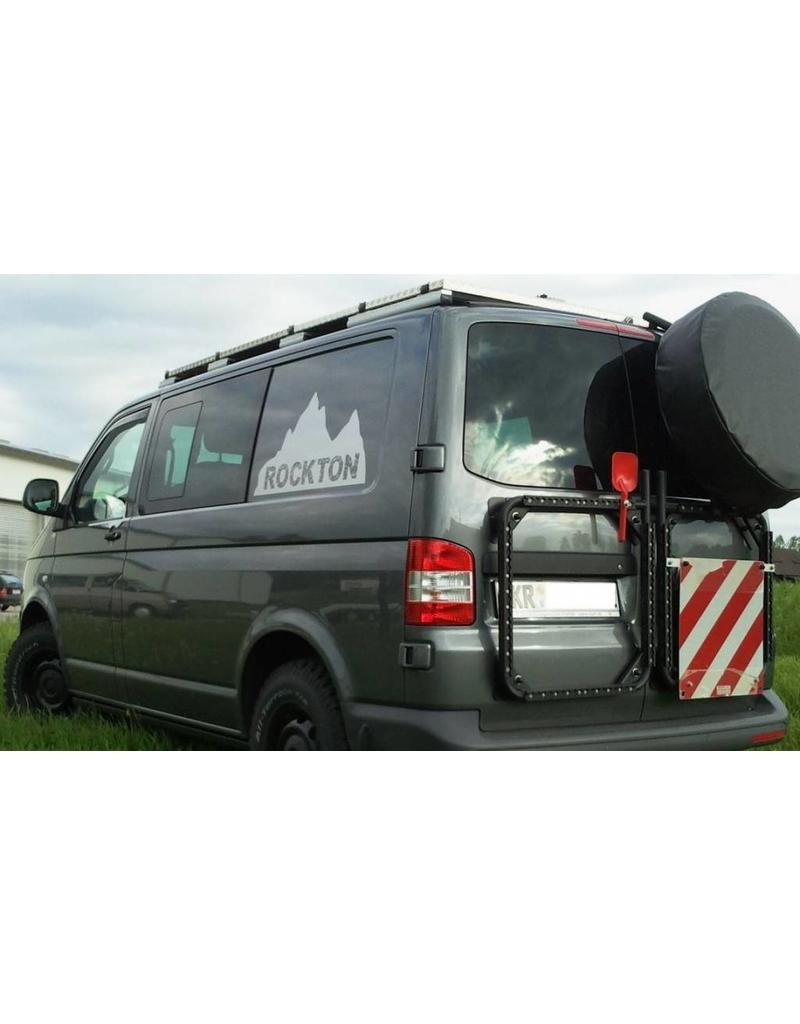 """VW T5/6 rear RIGHT door carrier system """"modular"""" suitable fo carrying spare wheel, canister, etc."""