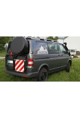 "VW T5/6 rear RIGHT door carrier system ""modular"" suitable fo carrying spare wheel, canister, etc."