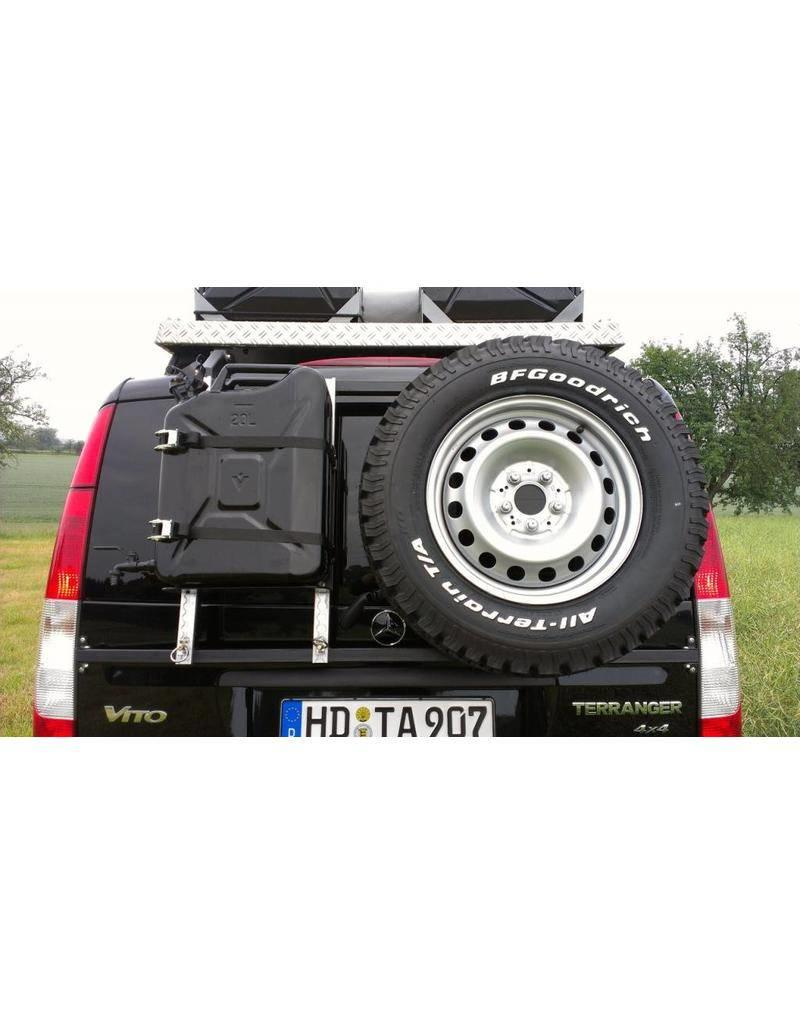 """Installation: Rear carrier """"modular"""" for carrying spare wheel, canister, etc. Mercedes VITO/VIANO"""