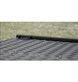 load fixation rail - alu black powder coated