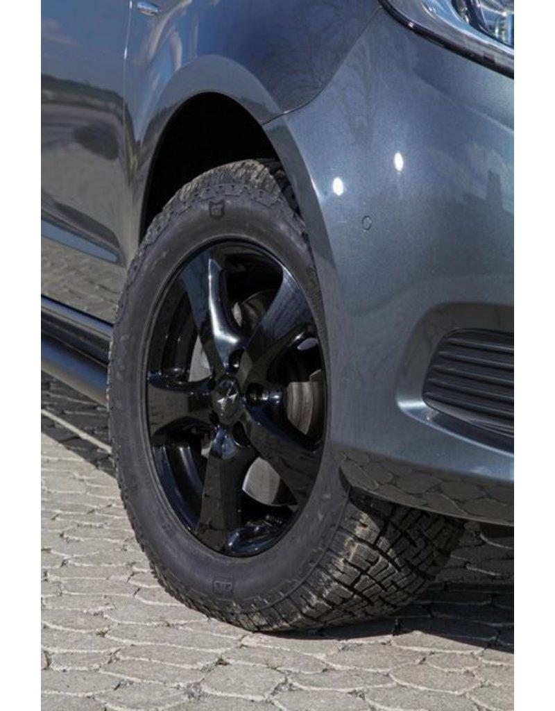 Jeu de 4 ressorts de rehausse (confortable) +30 mm pour Mercedes 447