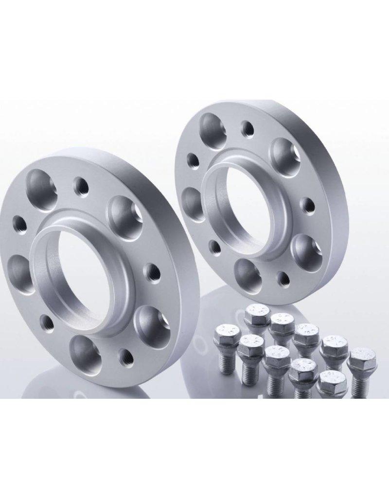 2 élargisseurs de voie à 15 mm (aluminium)