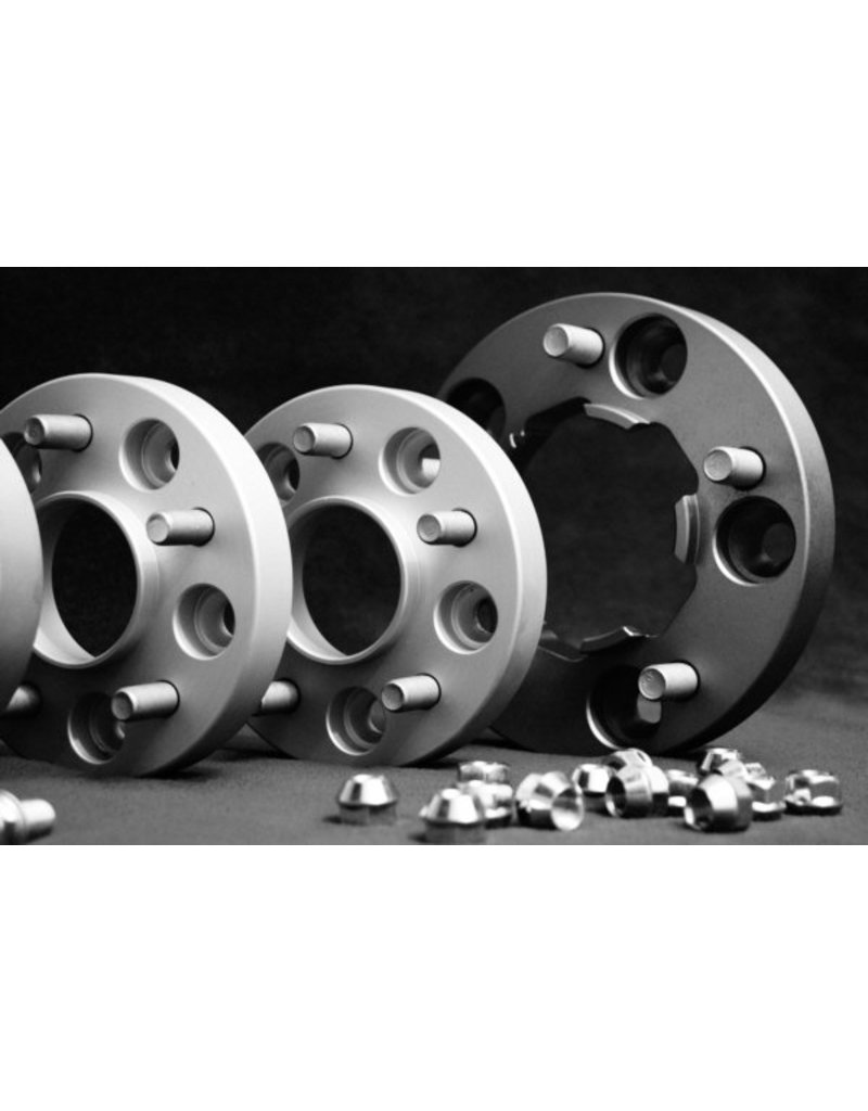 2 élargisseurs de voie à  23  mm (aluminium)