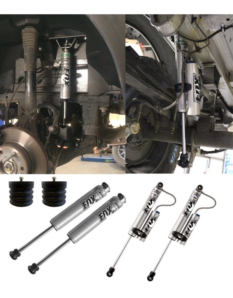 STAGE 2 FOX RACING SHOCK KIT package WITH ADJUSTABLE REAR SHOCKS (front/rear) for Mercedes Sprinter 4x4
