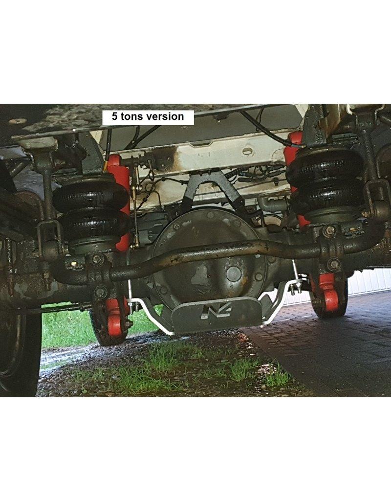 Mercedes Sprinter 906  4x4 Ski de protection nez de pont arrière alu 8mm