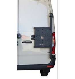 Mercedes Sprinter 907 universal carrier system on right back door (180°door)