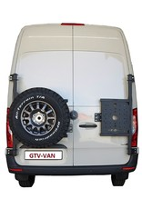 Sprinter 907  spare wheel carrier on left door (180°door)