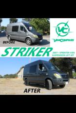 "SPRINTER 2WD NCV3 /W906 STRIKER 2"" Höherlegungssatz 5,1 cm - Komplettsatz - VA"