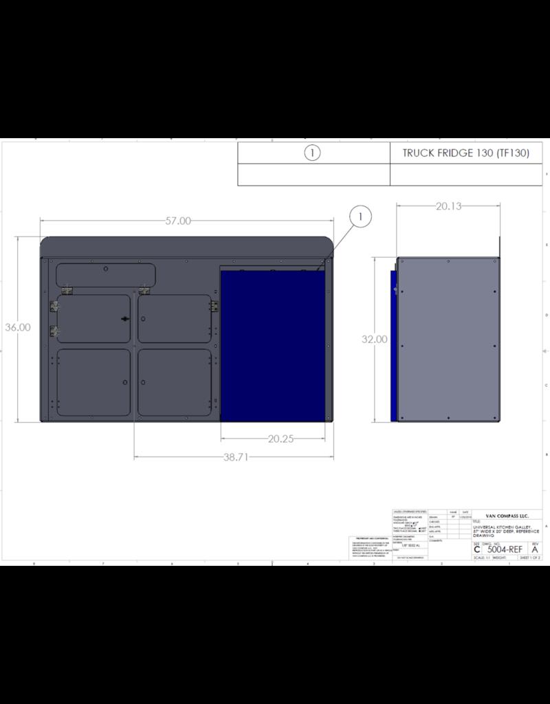 VAN COMPASS UNIVERSAL KITCHEN GALLEY 112x51x86 cm