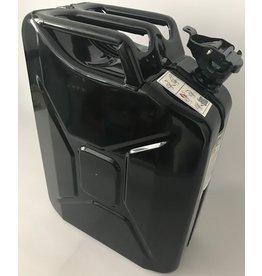 Bidon, 20 litres, en tôle d'acier, noir