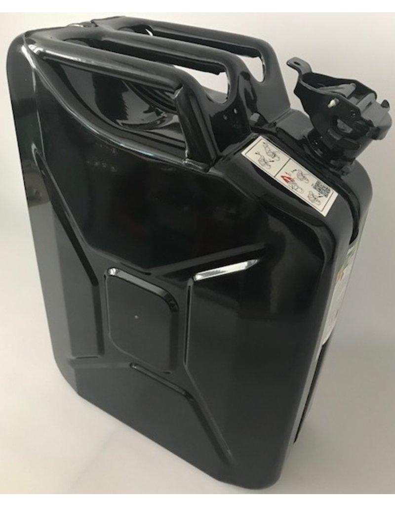 Kanister, 20 Liter, aus Stahlblech, schwarz