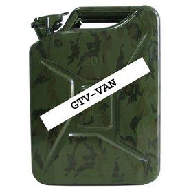 Kanister, 20 Liter, aus Stahlblech, oliv - Flecktarn