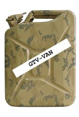 jerrycan, 20 litres, steel, desert - camouflage