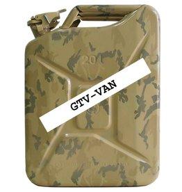 Bidon, 20 litres, en tôle d'acier, désert- camouflage