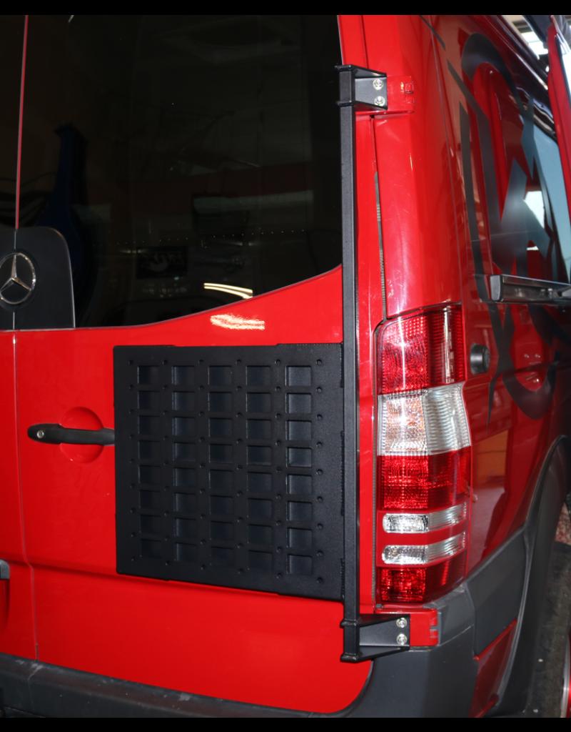 Van Compass Door Caddy - Universal or Spare wheel carrier for Mercedes Sprinter/Crafter I with 270° doors