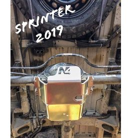 Mercedes Sprinter 907  4x4 Ski de protection nez de pont arrière alu 8mm