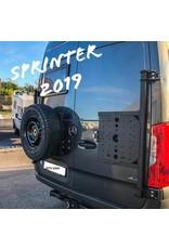 Sprinter 907  Porte roue sur porte arrière gauche (porte à 180°)