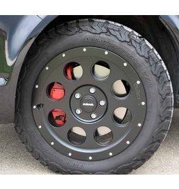 Jante en alliage, 8.0x17 H2, style beadlock, 5x120 déport 45 pour VW T5/6