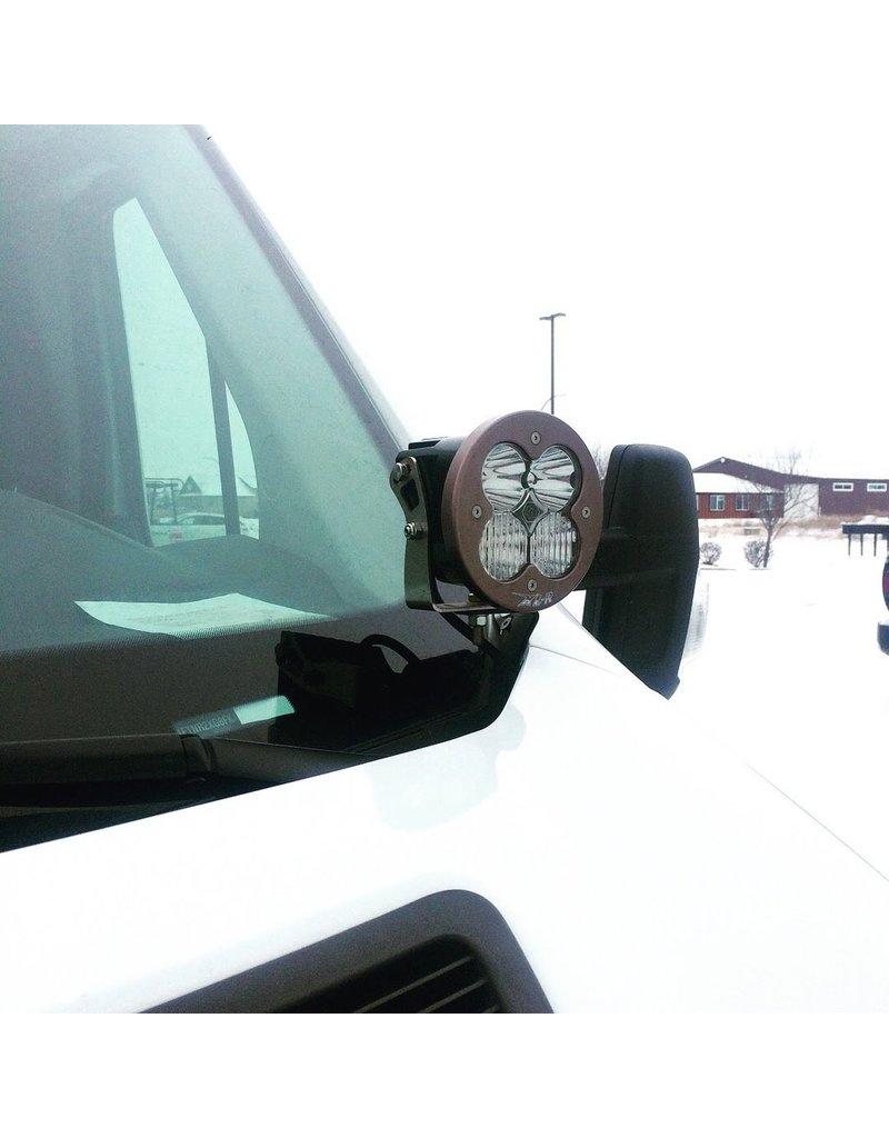 VAN COMPASS HOODLINE LIGHT POD MOUNT FORD TRANSIT - Support de lampe ou antenne CB pour capot moteur