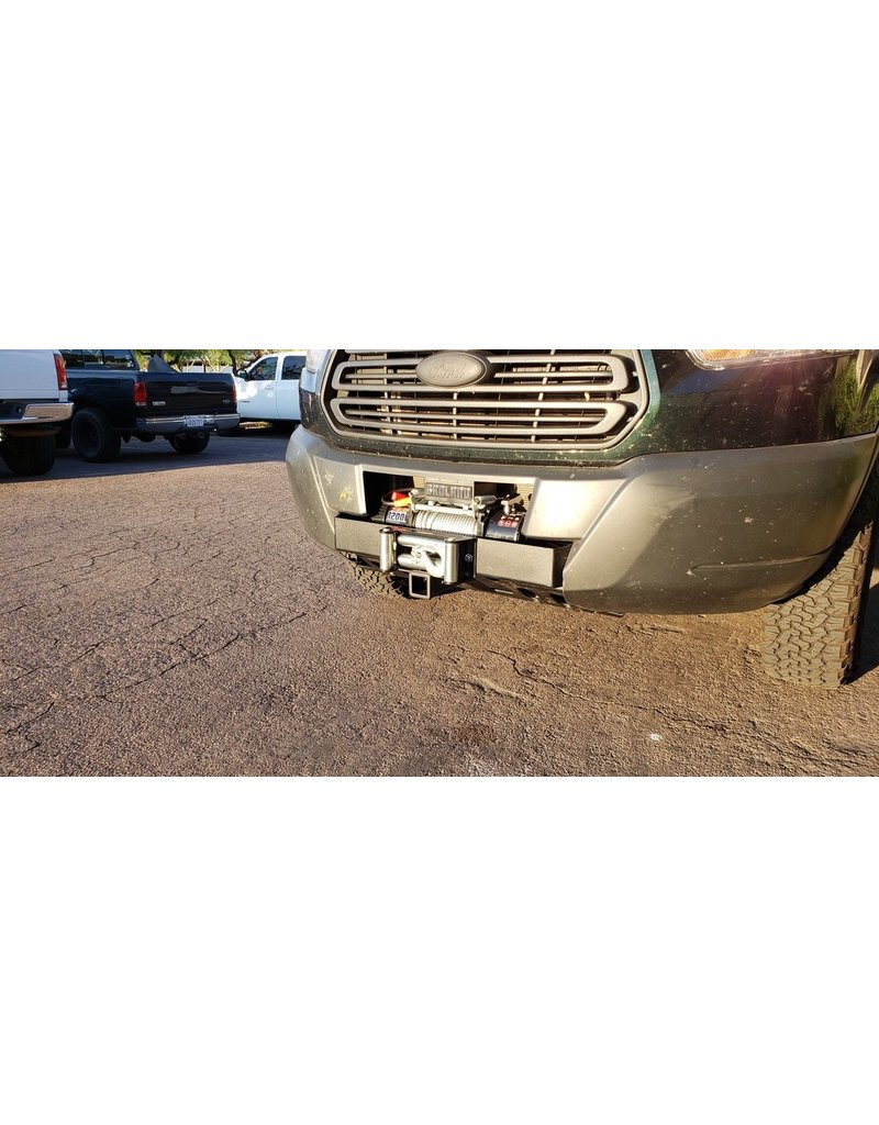 VAN COMPASS™ FORD TRANSIT 2014+ FRONT WINCH MOUNT WITH RECEIVER HITCH