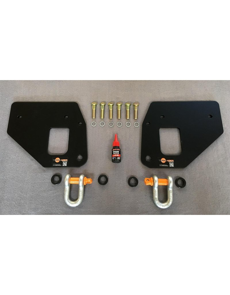 TERRANGER rear recovery hooks (recovery eyelets) with shackle, for VW T5 / T6 / T6.1