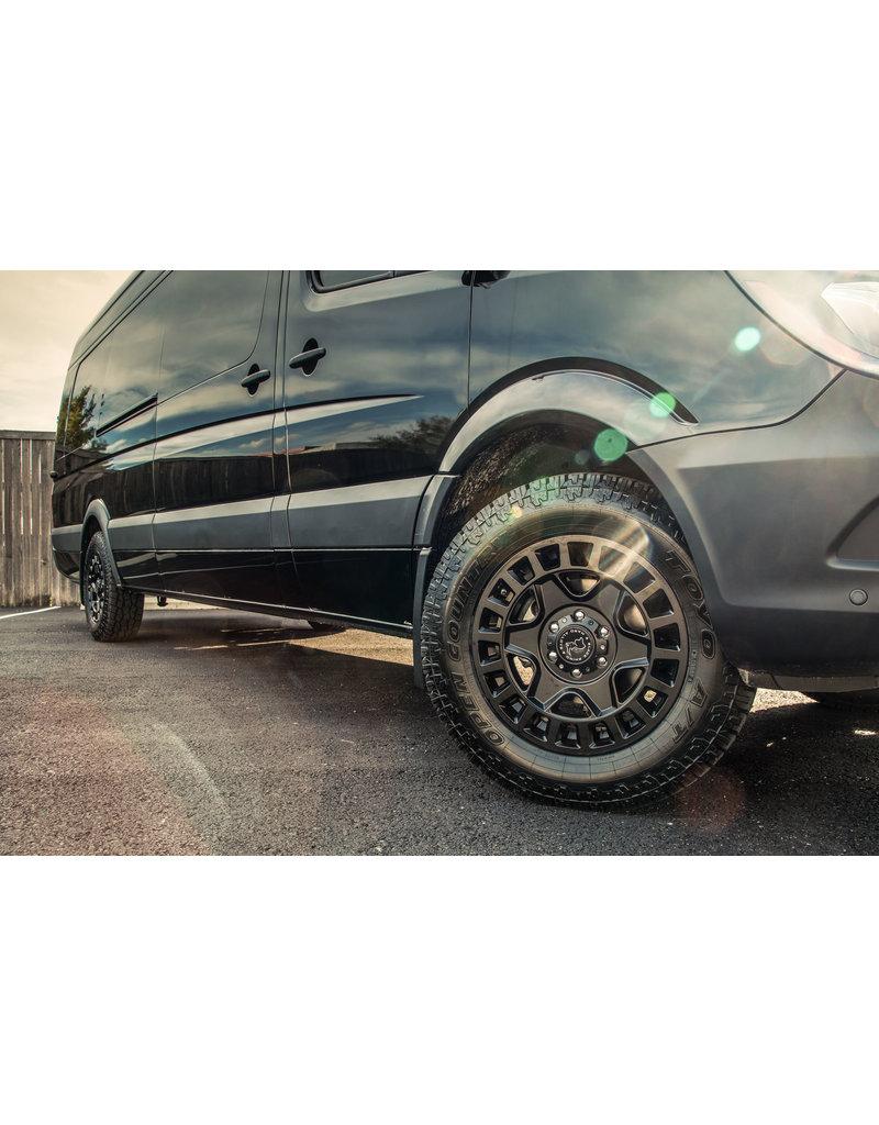 Black Rhino York 17x8  6/130 ET 52, MATTE BLACK, pour Mercedes Sprinter